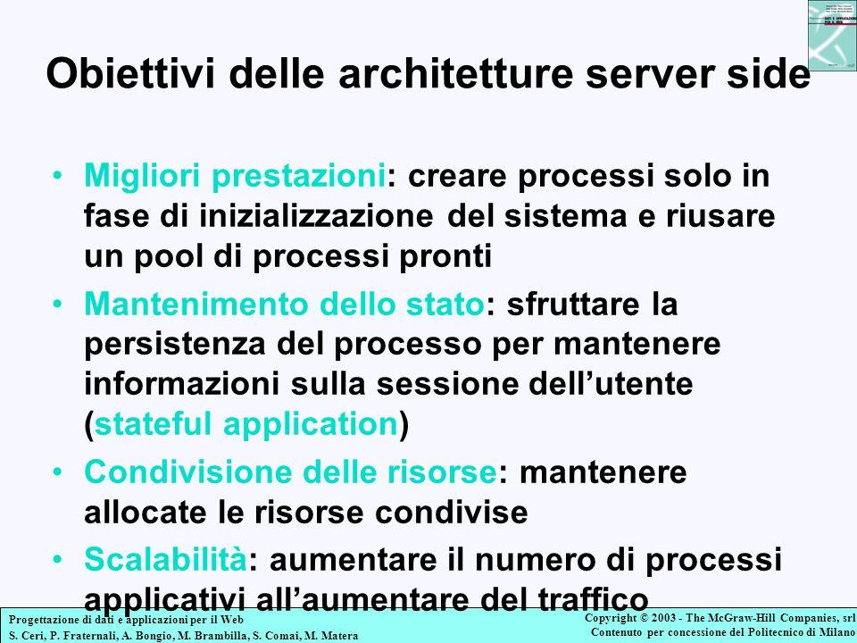 Obiettivi delle architetture server side