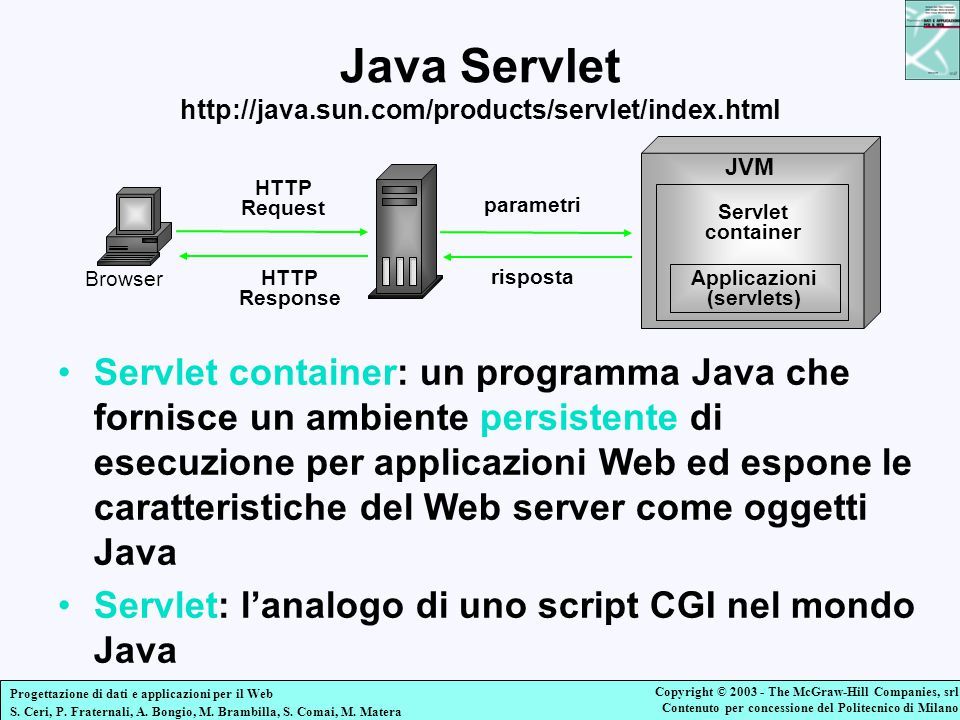 Java Servlet http://java.sun.com/products/servlet/index.html