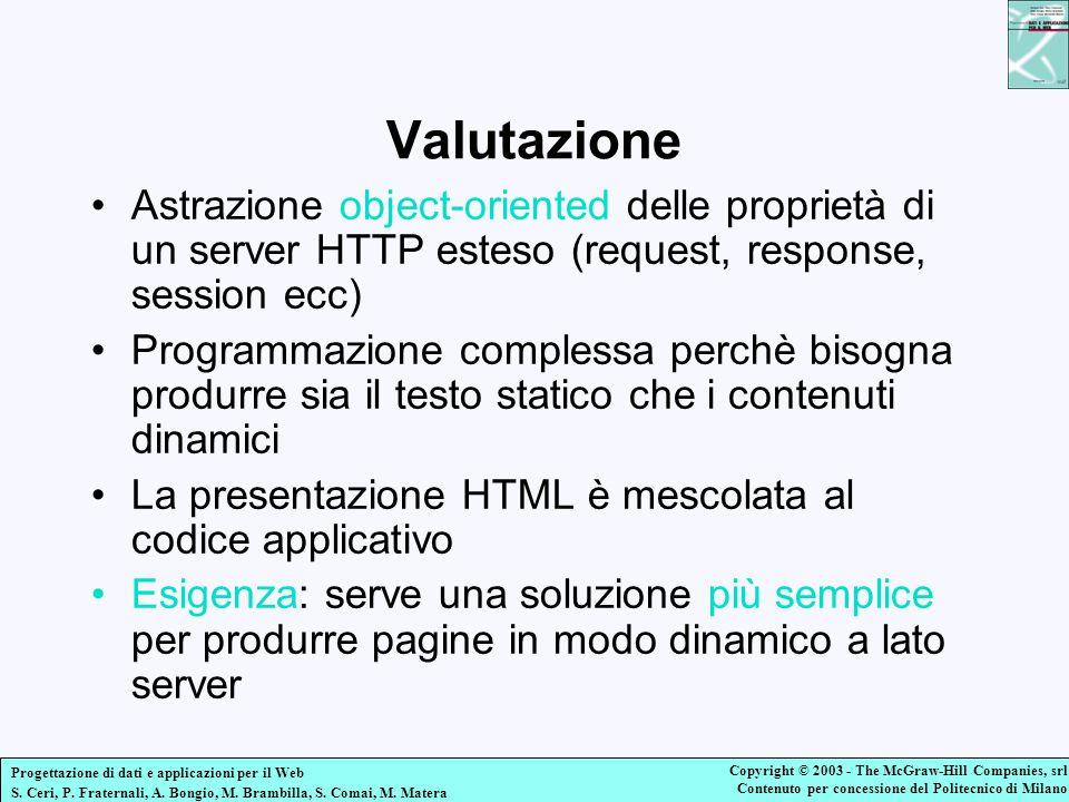Valutazione Astrazione object-oriented delle proprietà di un server HTTP esteso (request, response, session ecc)