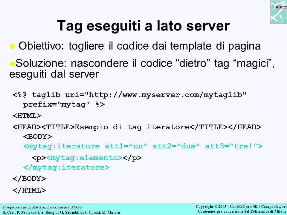 Tag eseguiti a lato server
