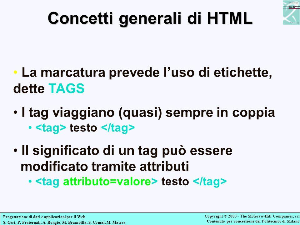 Concetti generali di HTML