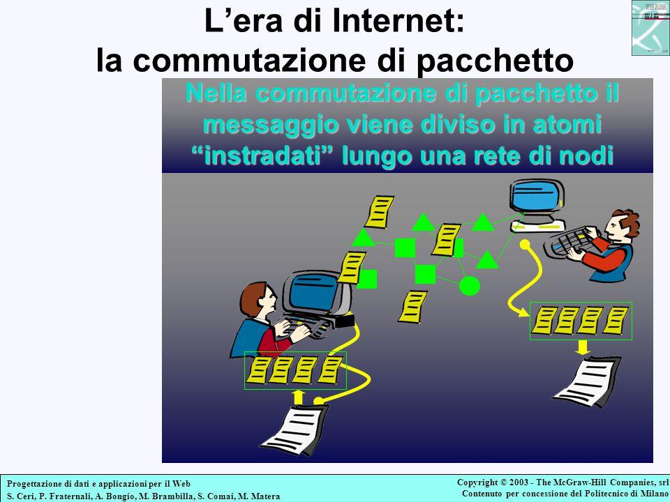 L'era di Internet: la commutazione di pacchetto
