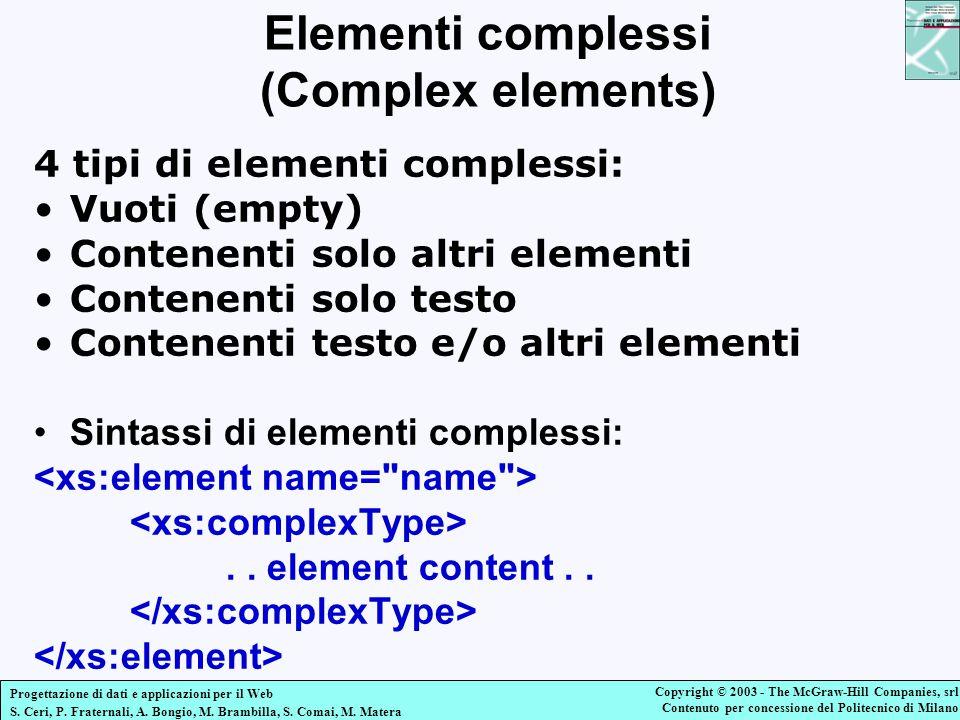 Elementi complessi (Complex elements)