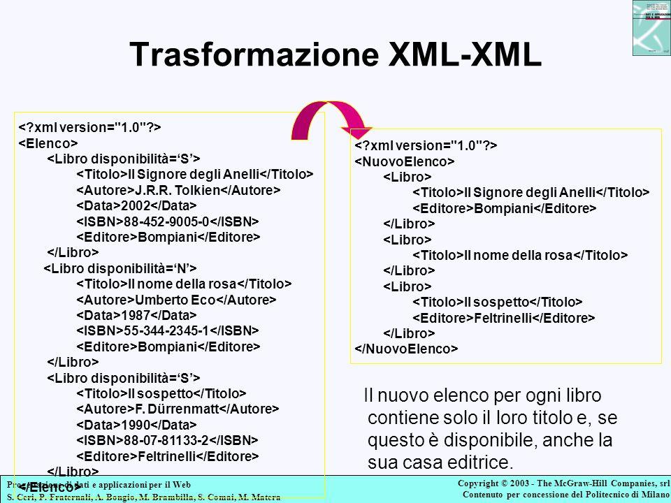 Trasformazione XML-XML