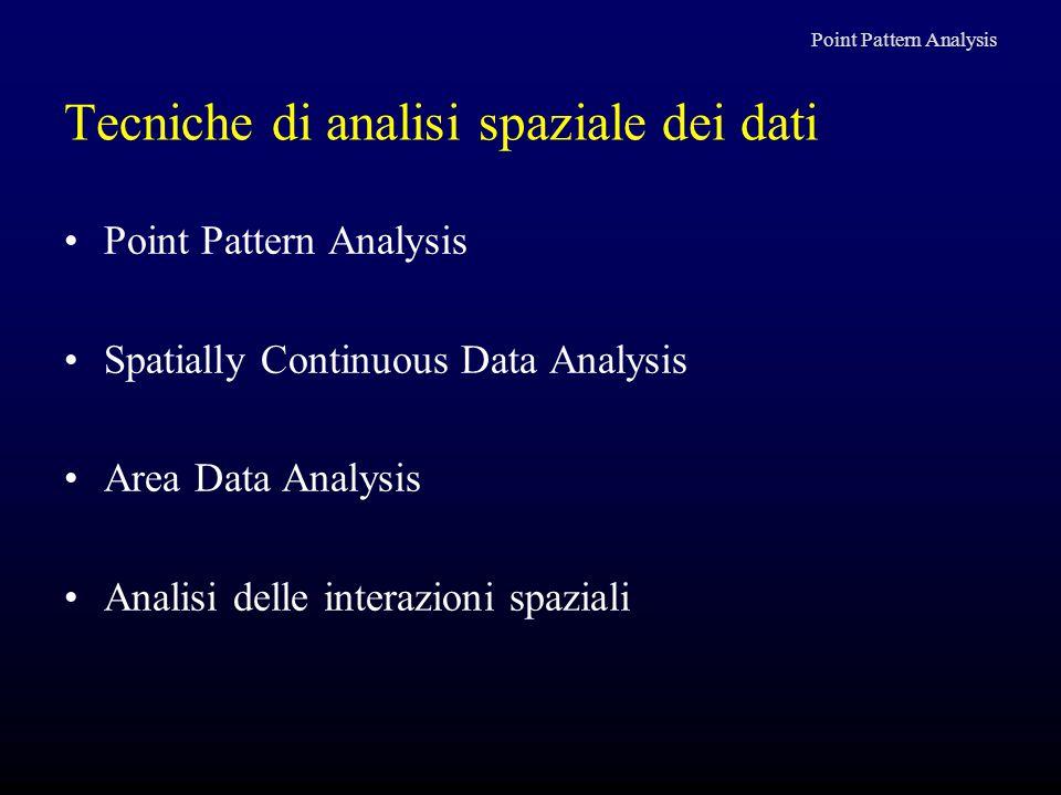 Tecniche di analisi spaziale dei dati