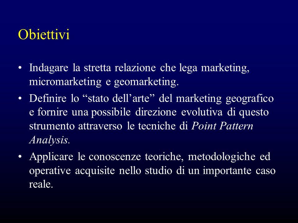 Obiettivi Indagare la stretta relazione che lega marketing, micromarketing e geomarketing.