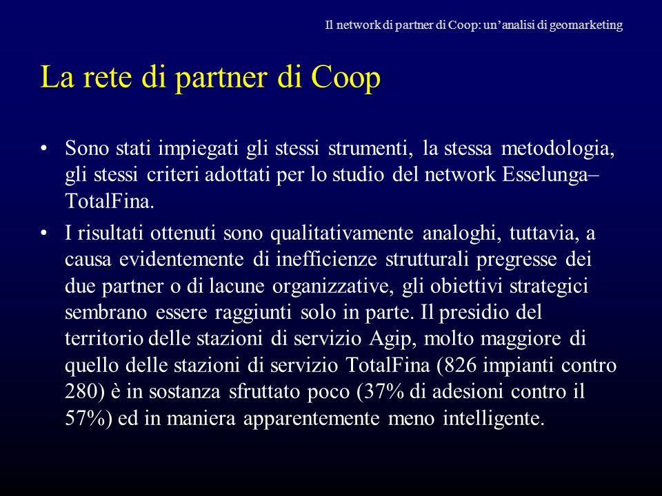 La rete di partner di Coop