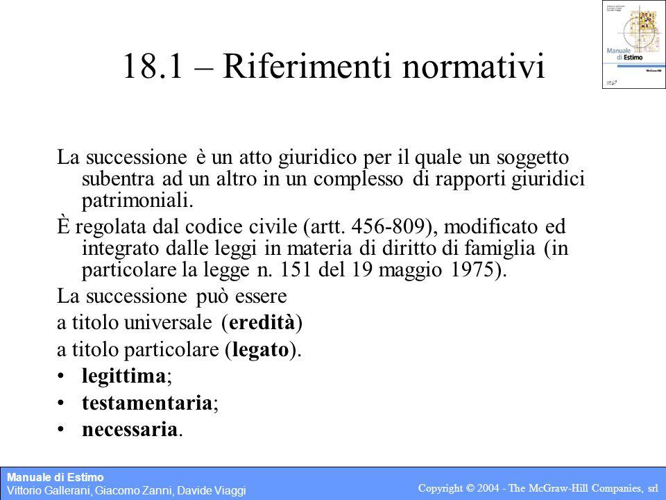 18.1 – Riferimenti normativi