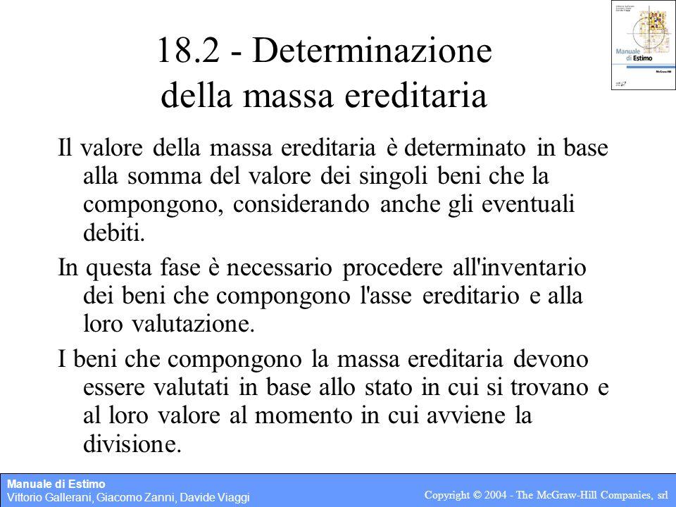18.2 - Determinazione della massa ereditaria