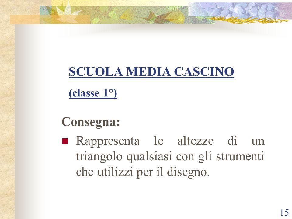 SCUOLA MEDIA CASCINO (classe 1°)