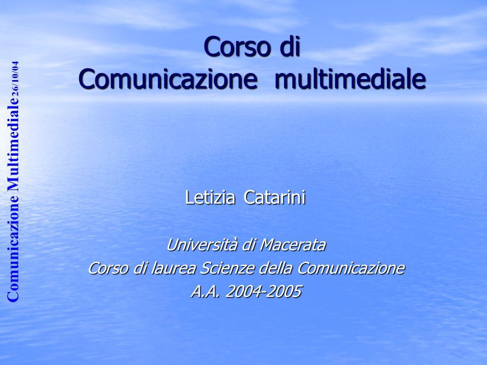 Corso di Comunicazione multimediale
