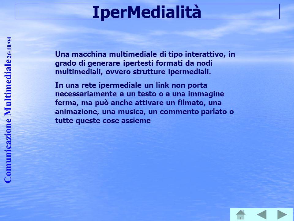IperMedialità Comunicazione Multimediale 26/10/04