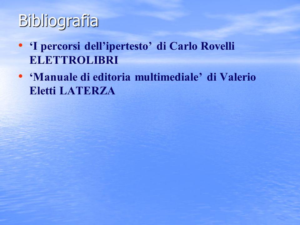 Bibliografia 'I percorsi dell'ipertesto' di Carlo Rovelli ELETTROLIBRI