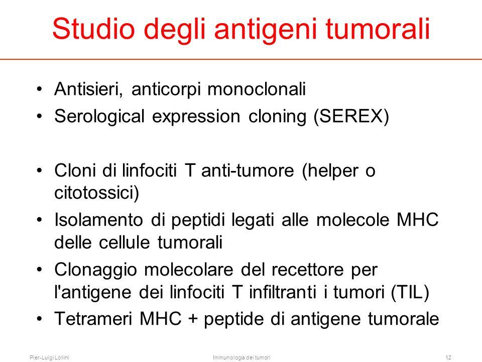 Studio degli antigeni tumorali