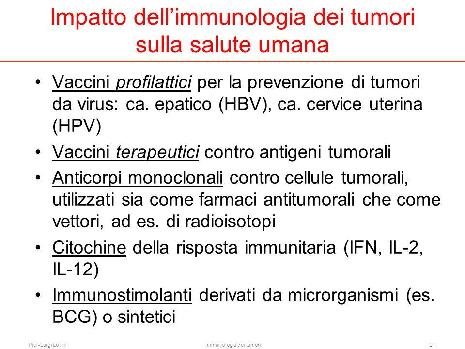 Impatto dell'immunologia dei tumori sulla salute umana