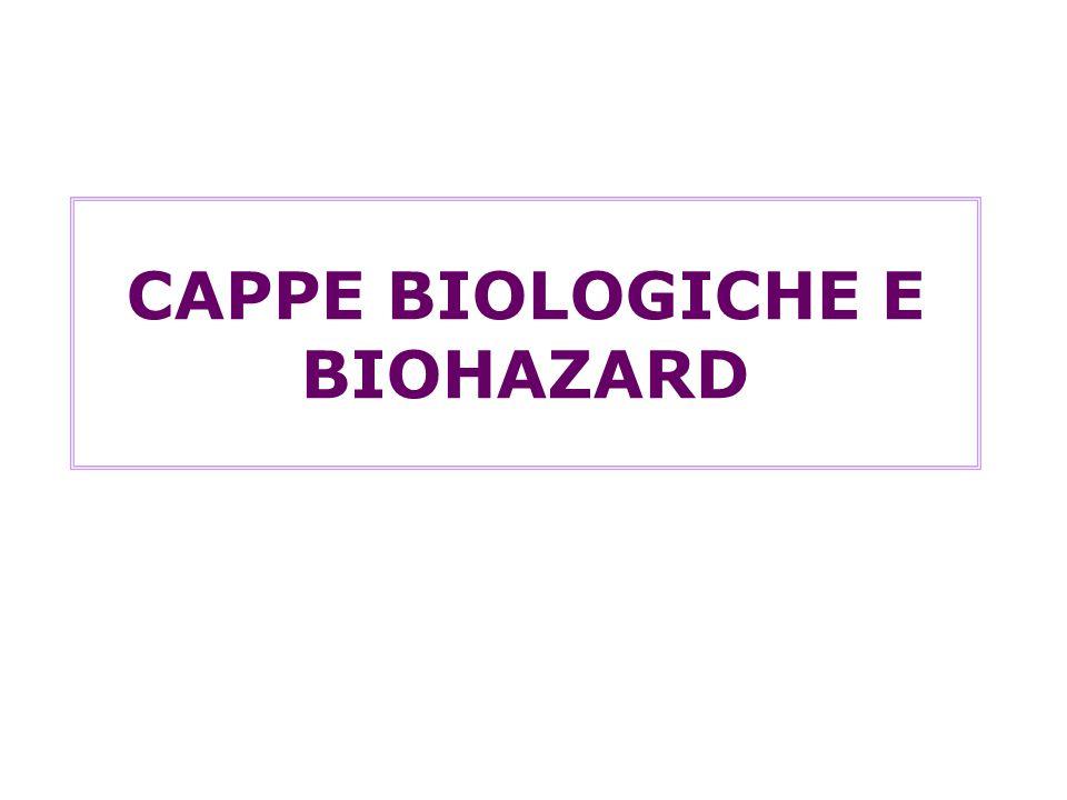 CAPPE BIOLOGICHE E BIOHAZARD