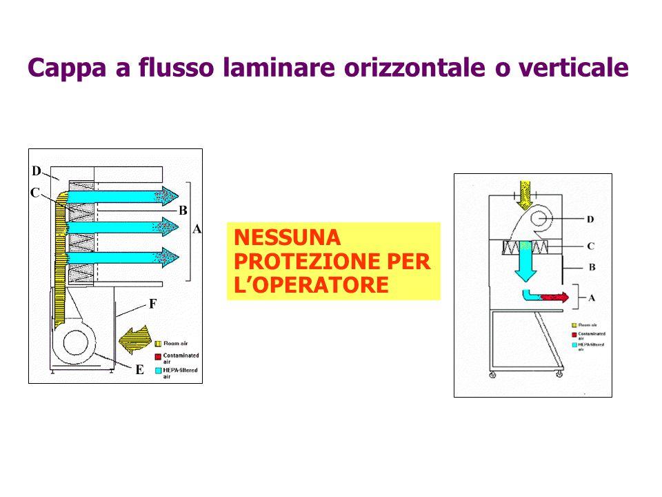 Cappa a flusso laminare orizzontale o verticale