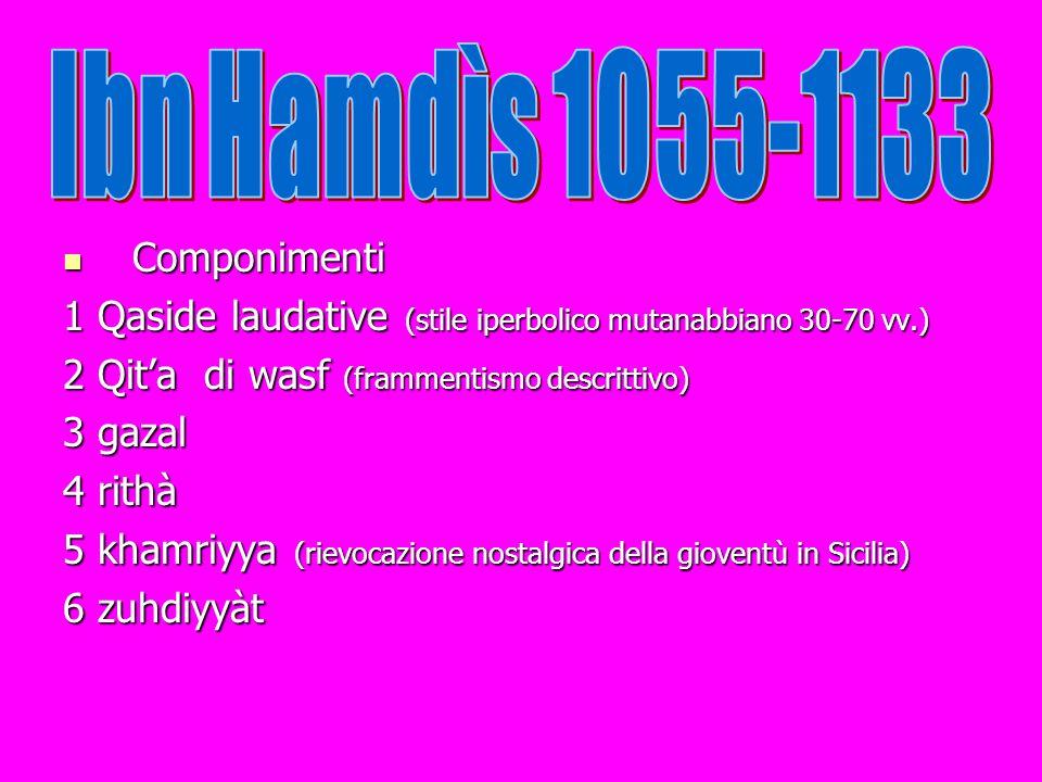 Ibn Hamdìs 1055-1133 Componimenti