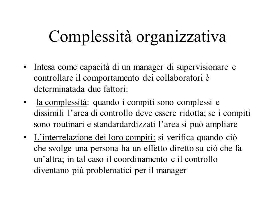 Complessità organizzativa