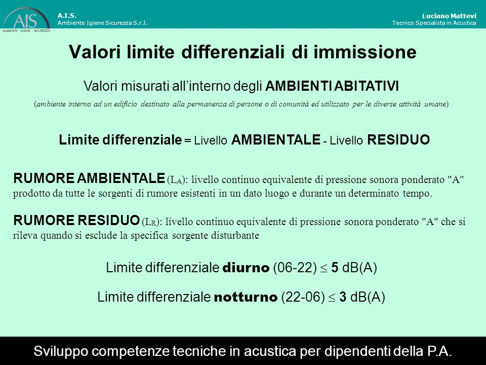 Valori limite differenziali di immissione
