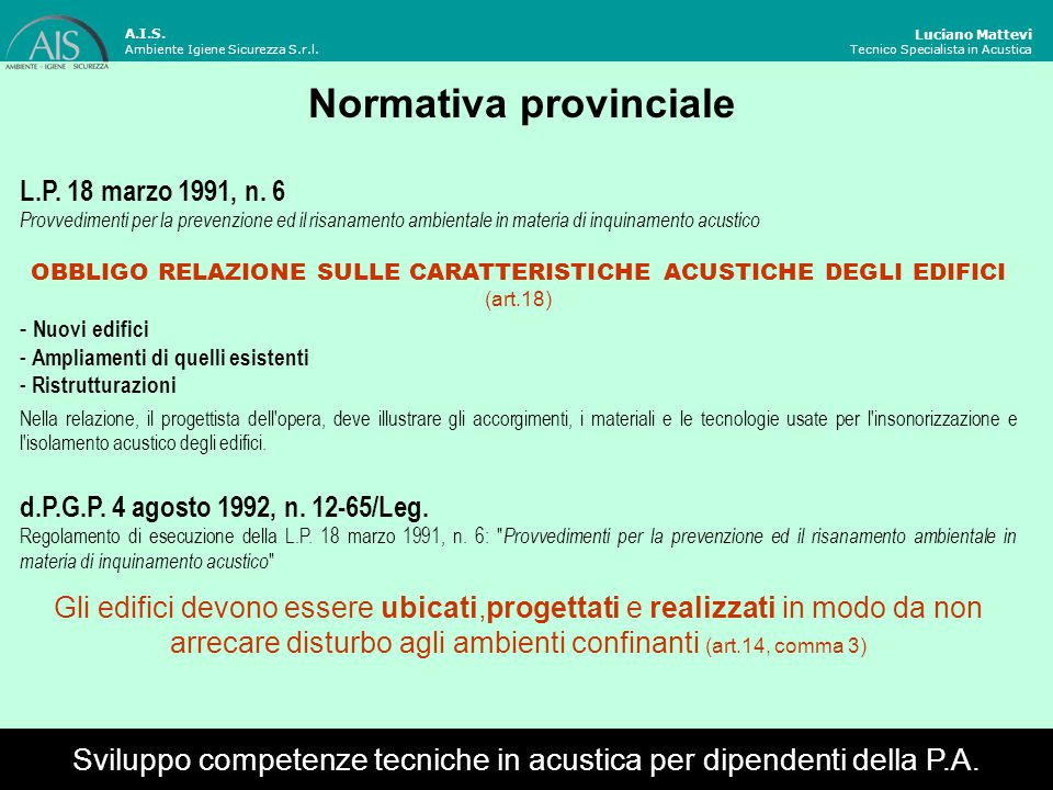 Normativa provinciale