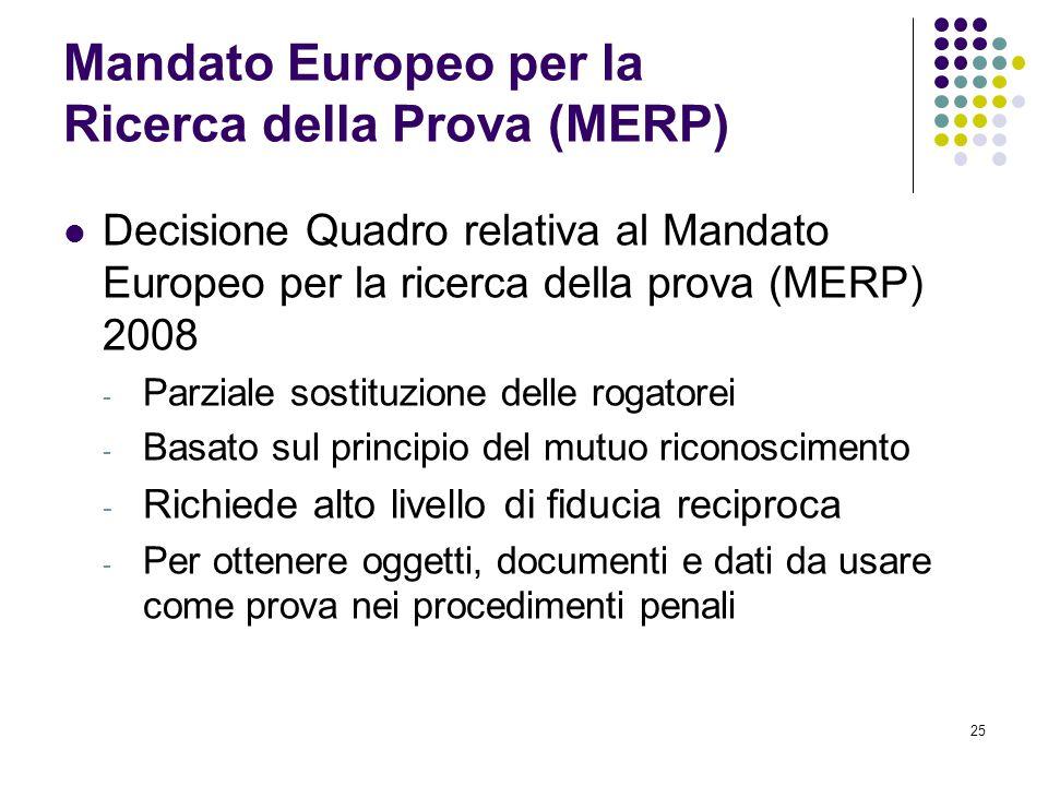 Mandato Europeo per la Ricerca della Prova (MERP)