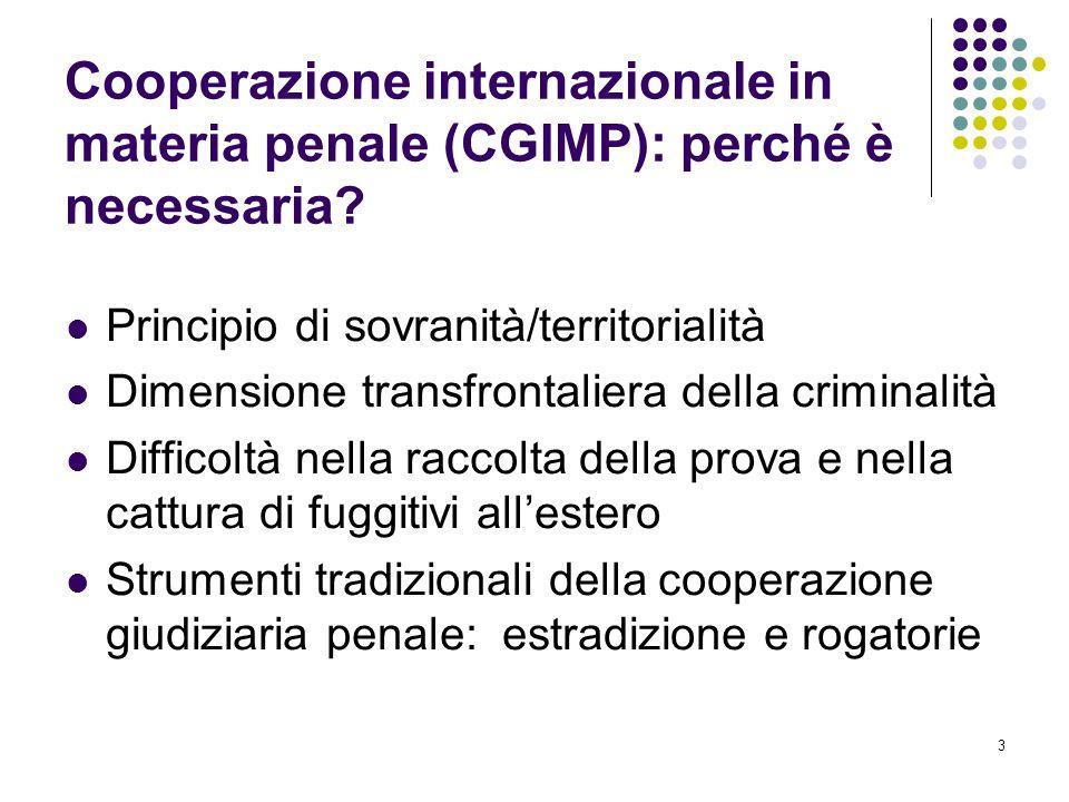 Cooperazione internazionale in materia penale (CGIMP): perché è necessaria