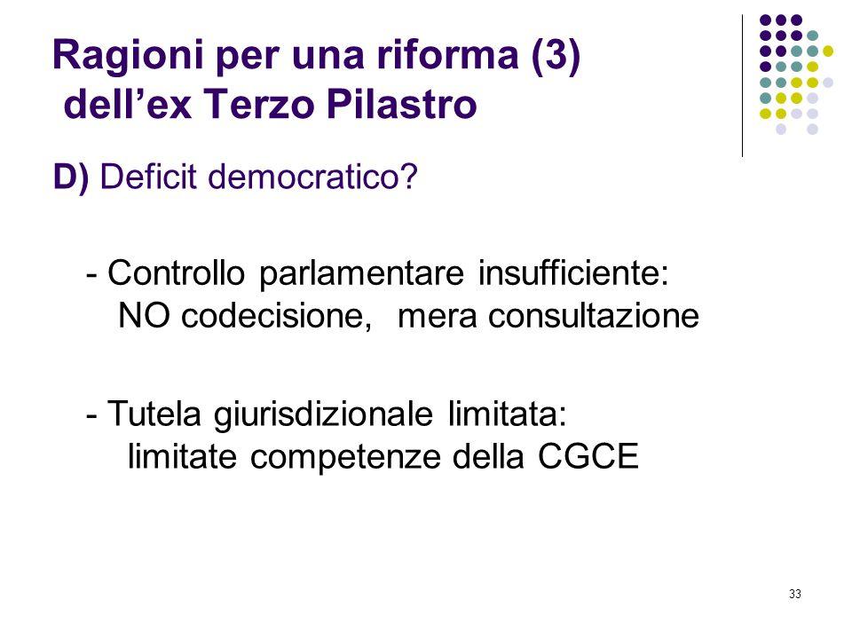 Ragioni per una riforma (3) dell'ex Terzo Pilastro