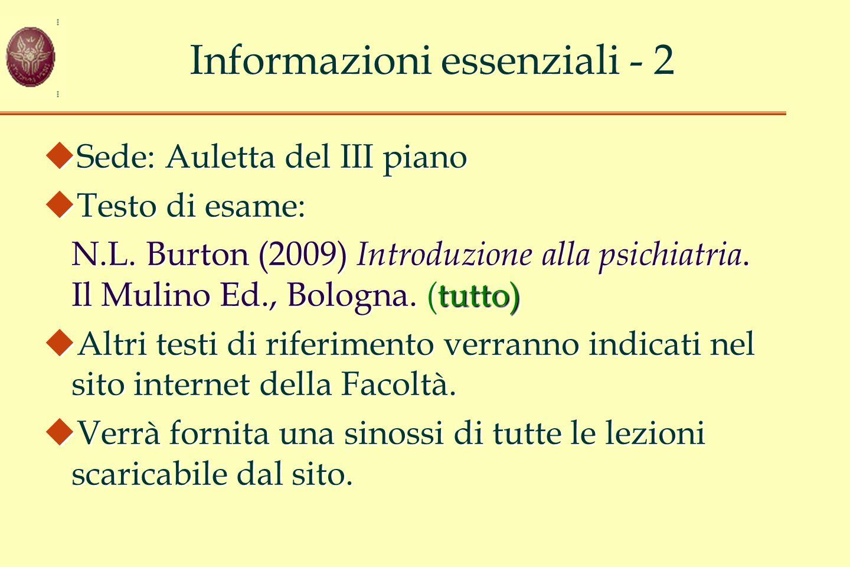 Informazioni essenziali - 2