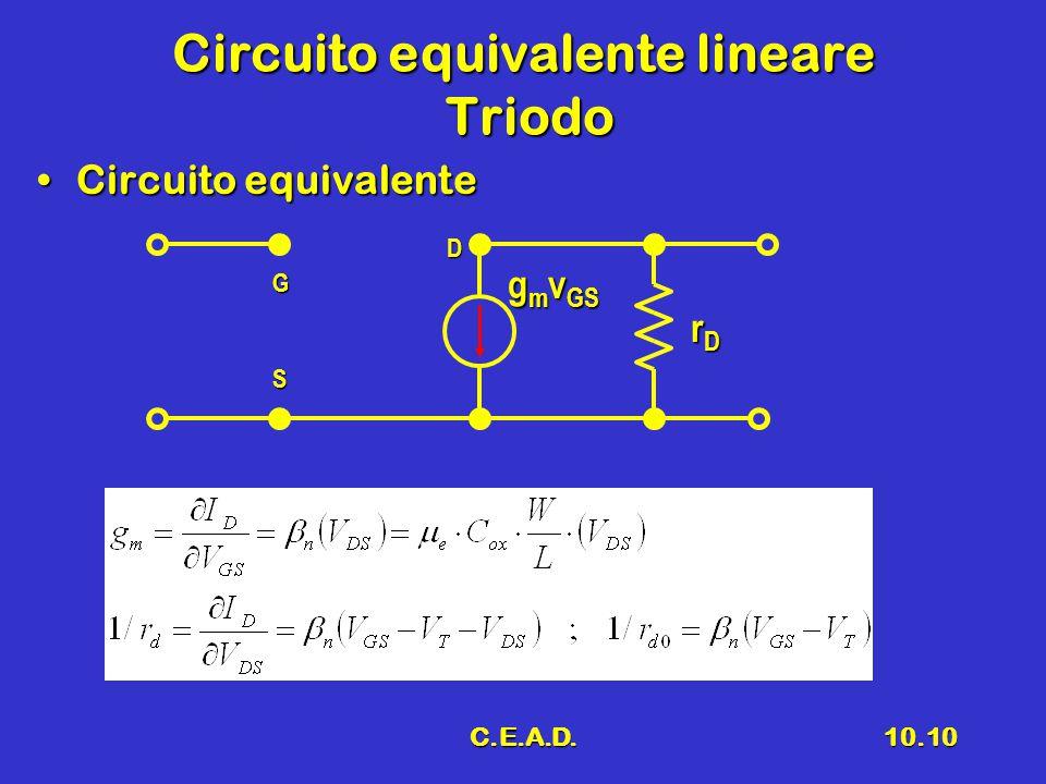 Circuito equivalente lineare Triodo