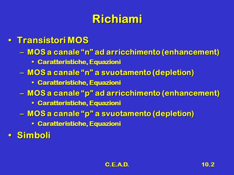 Richiami Transistori MOS Simboli