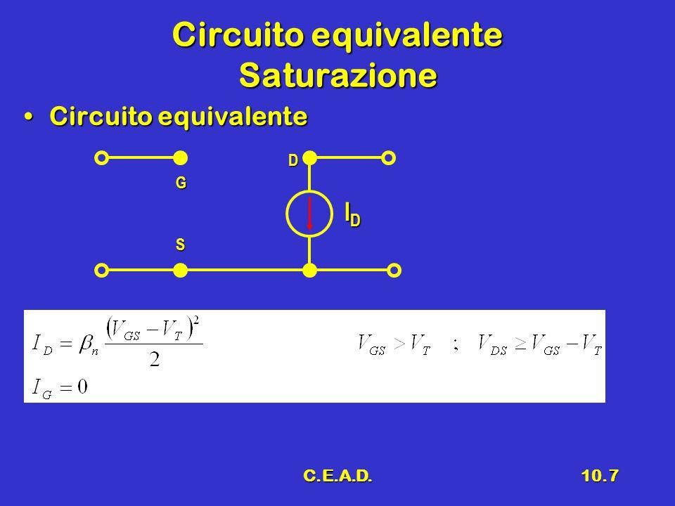 Circuito equivalente Saturazione