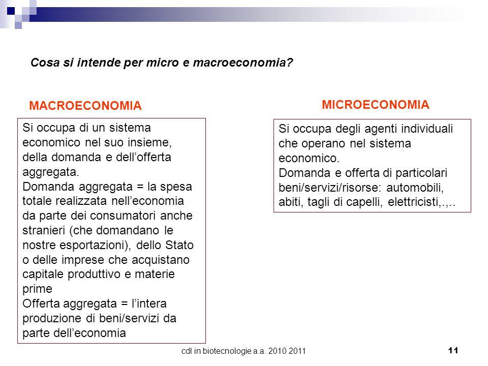 cdl in biotecnologie a.a. 2010 2011