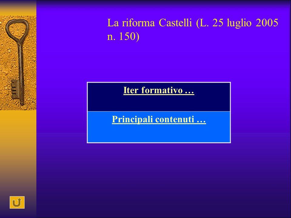 La riforma Castelli (L. 25 luglio 2005 n. 150)