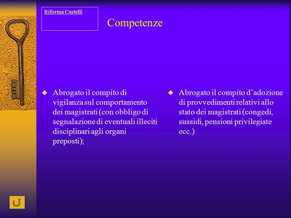 Riforma Castelli Competenze.