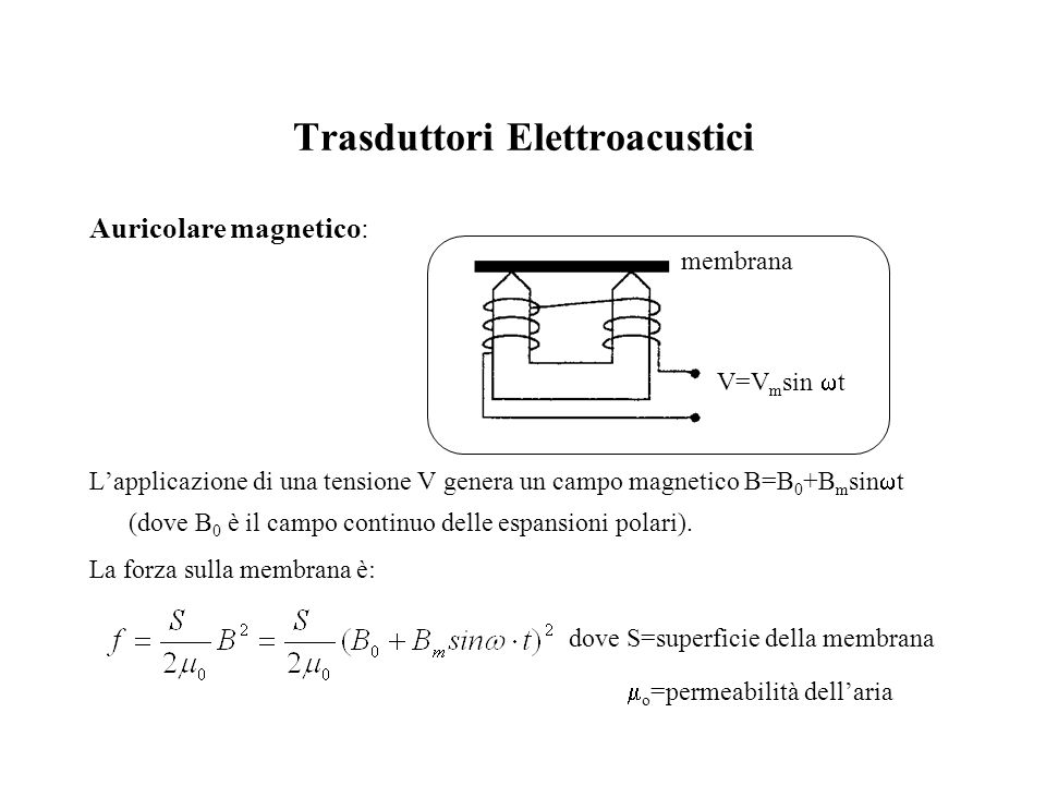 Trasduttori Elettroacustici