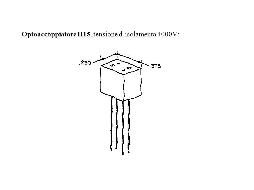 Optoaccoppiatore H15, tensione d'isolamento 4000V: