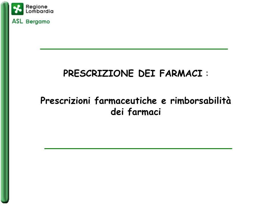 Prescrizioni farmaceutiche e rimborsabilità dei farmaci
