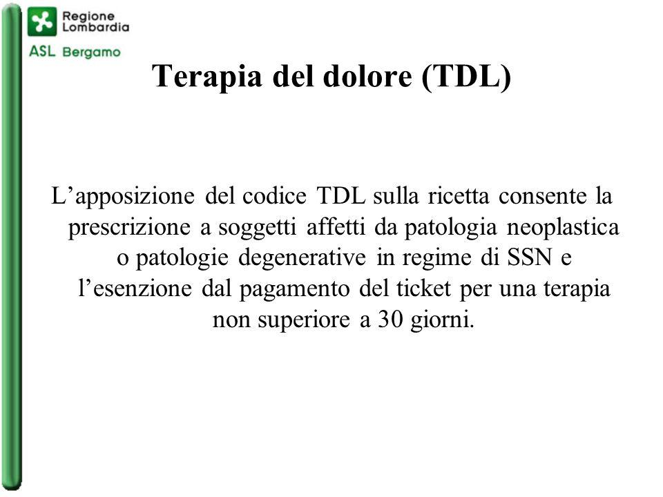Terapia del dolore (TDL)