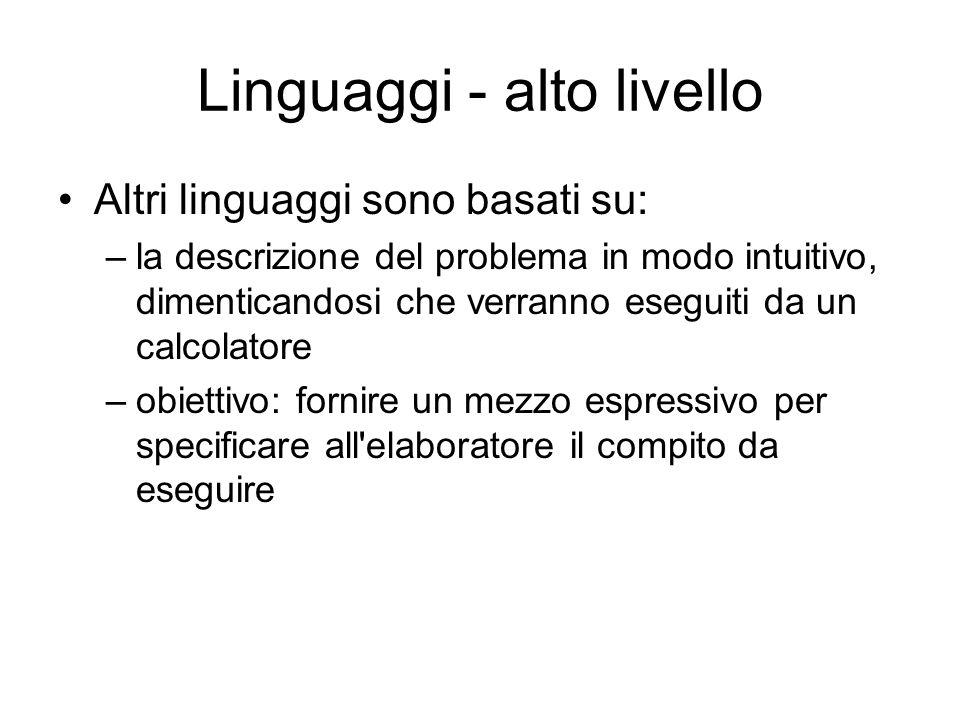 Linguaggi - alto livello