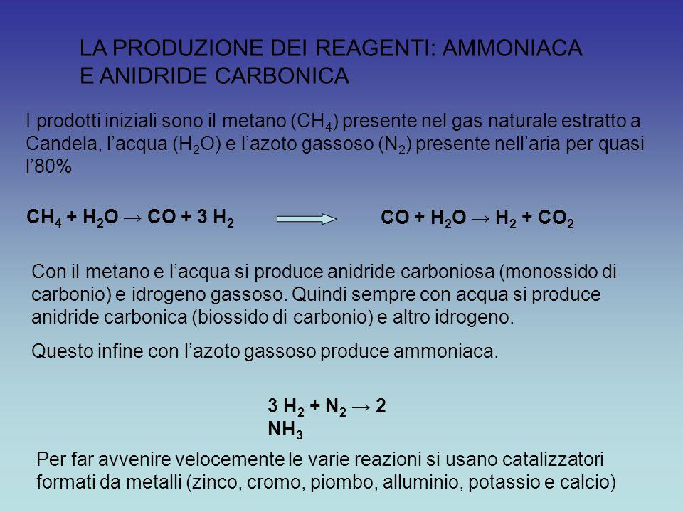 LA PRODUZIONE DEI REAGENTI: AMMONIACA E ANIDRIDE CARBONICA
