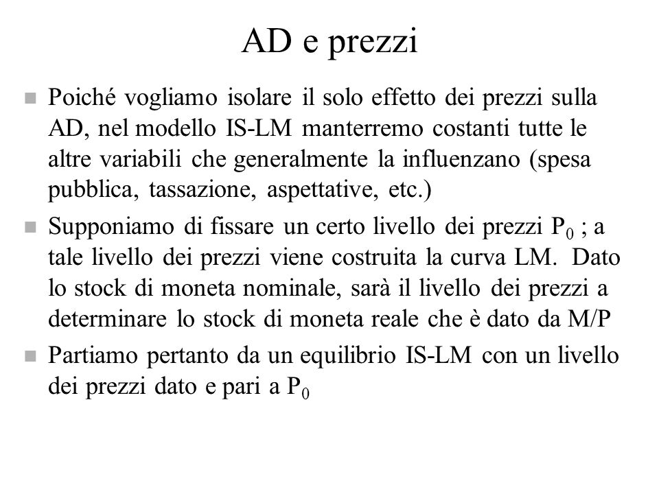AD e prezzi