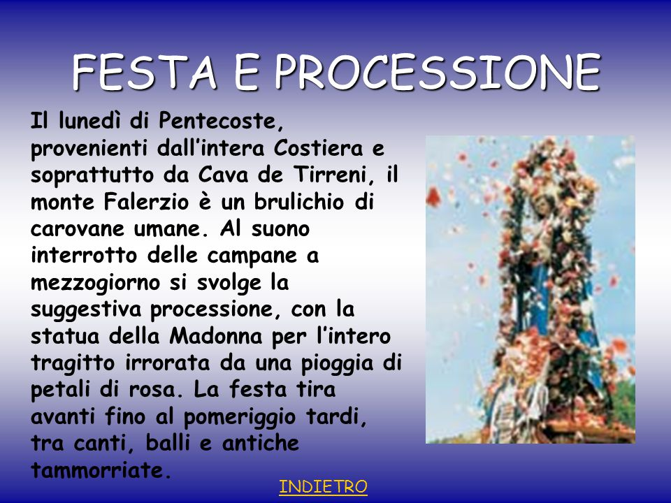 FESTA E PROCESSIONE