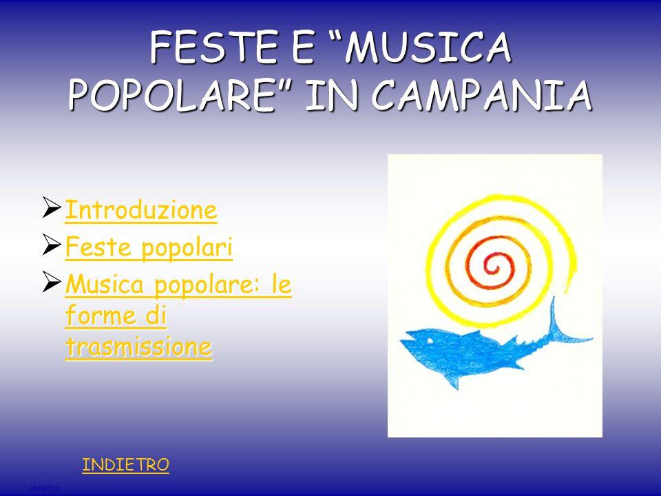 FESTE E MUSICA POPOLARE IN CAMPANIA