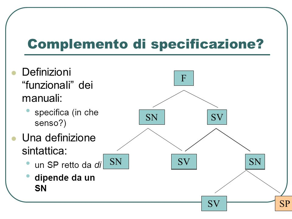 Complemento di specificazione