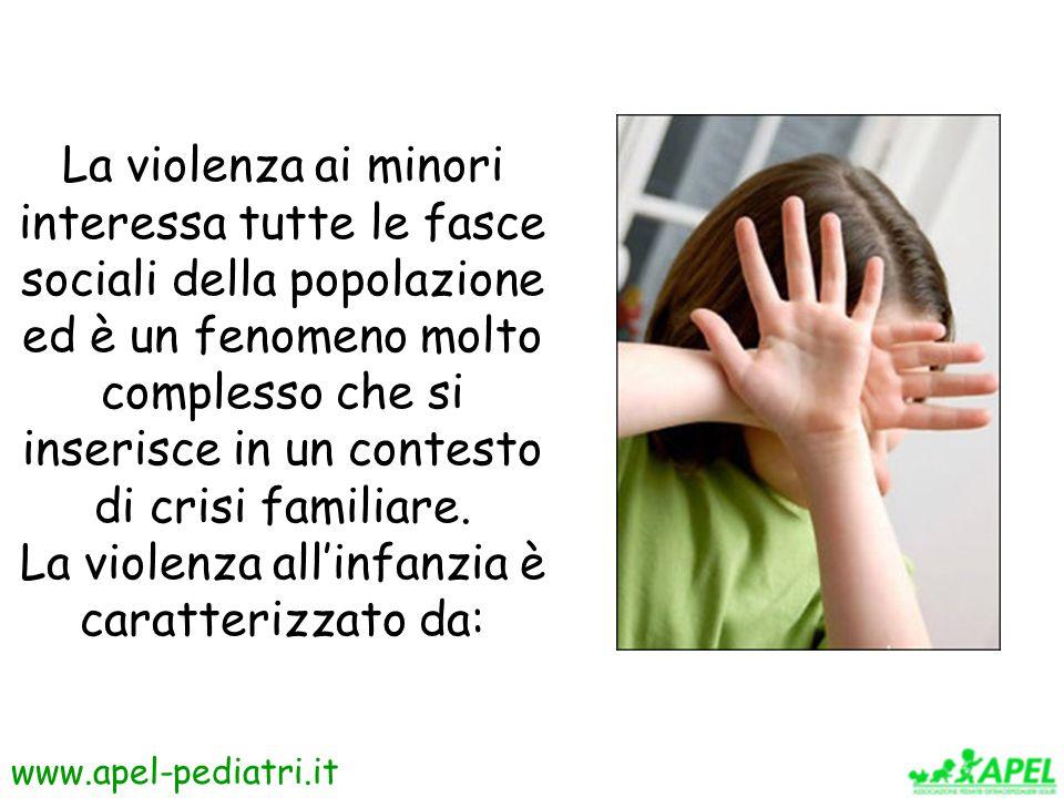 La violenza all'infanzia è caratterizzato da: