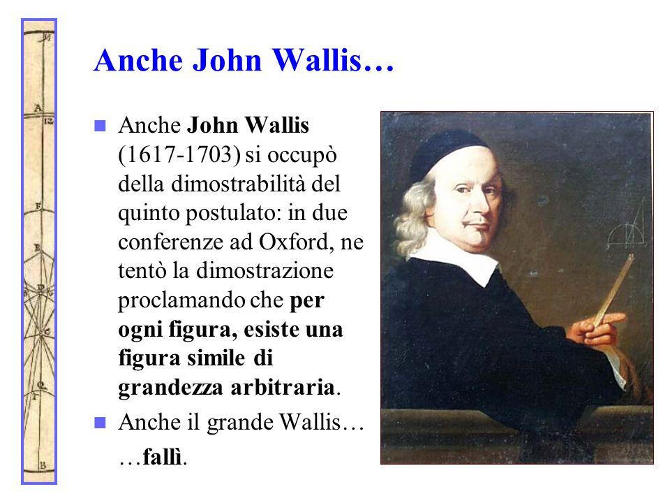 Anche John Wallis…