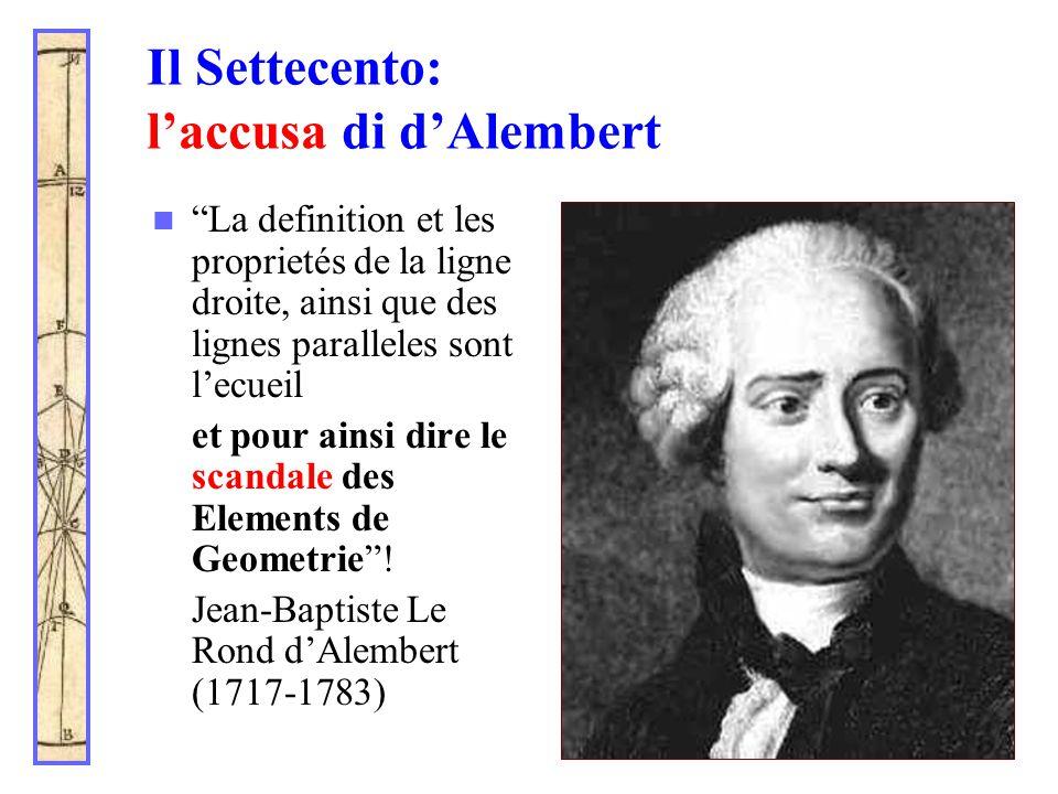 Il Settecento: l'accusa di d'Alembert