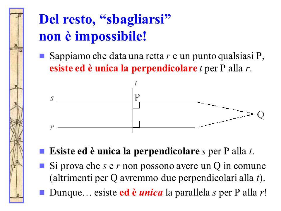 Del resto, sbagliarsi non è impossibile!