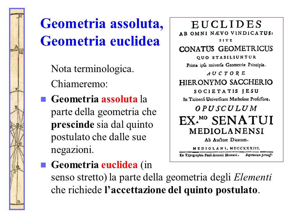 Geometria assoluta, Geometria euclidea